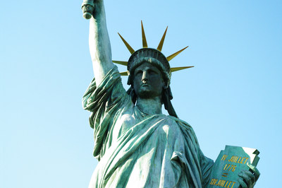 东京台场海滨公园的自由女神像