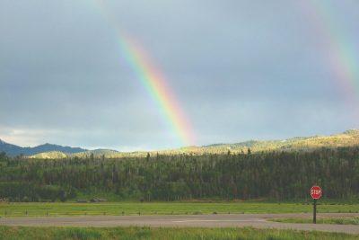彩虹、两、双彩虹