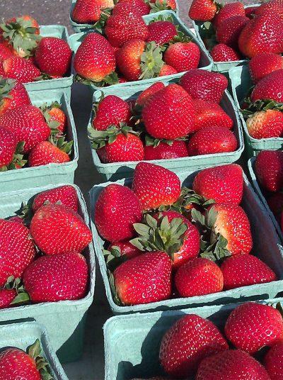 新鲜的有机草莓图片