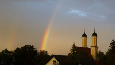 彩虹、雨、频谱