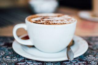 咖啡、热、喝