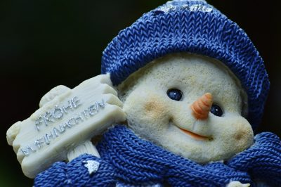 冬天、雪人、数字