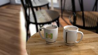 杯、第三支架、早餐