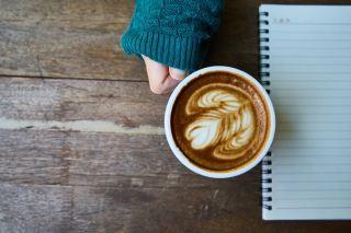 咖啡、拿铁咖啡、褐色
