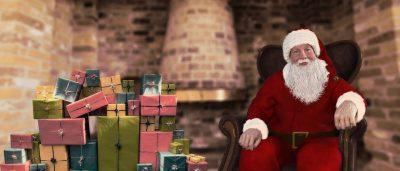 圣诞老人与圣诞礼物的图片
