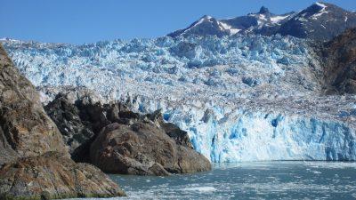 冰川、景观、蓝色