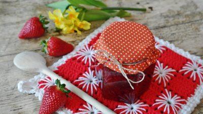 草莓酱、草莓、水果