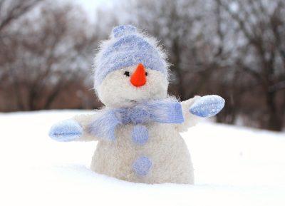 雪人、雪、新的一年的平安夜