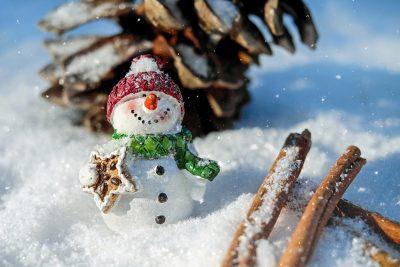 雪人、雪、冬天