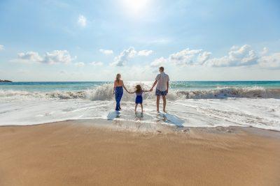 海滩、家庭、乐趣