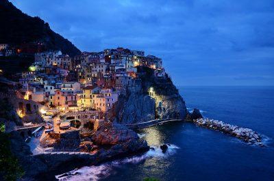 五渔村、意大利、岩