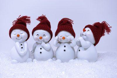 雪人、数字、可爱