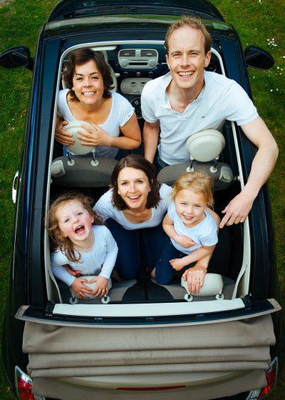 家庭、人、车