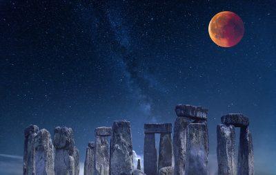 巨石阵、古代、夜