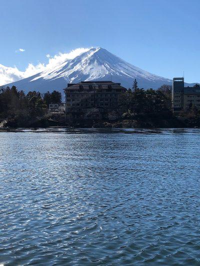 富士山、湖、富士