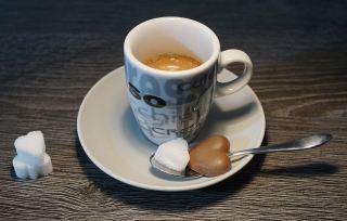 咖啡、热、茶托