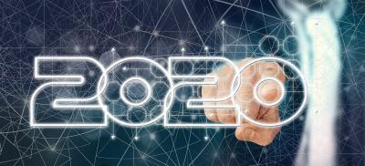 数字、科技、2020、手指