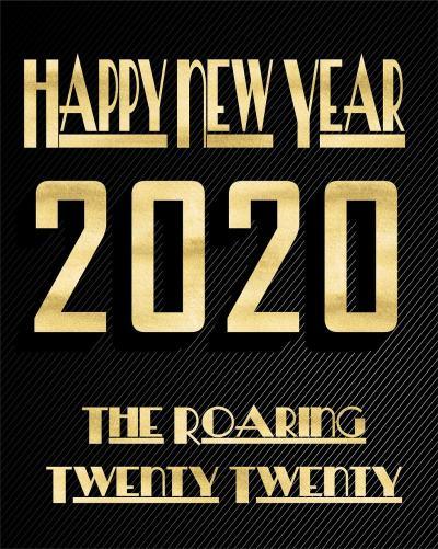 新年快乐Happy new year 2020文字图片