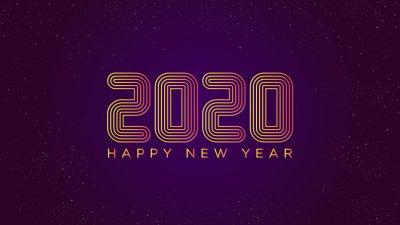 新年快乐、新的一年、2020年