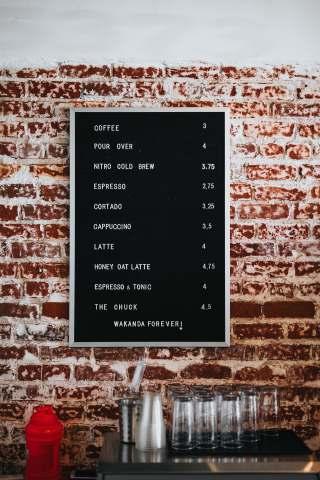 咖啡厅的小黑板