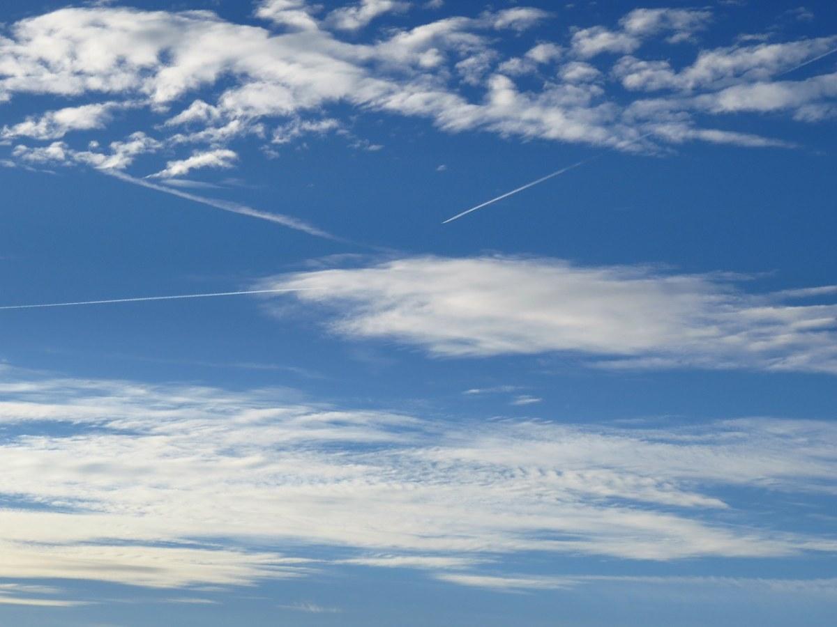 天空、云、蓝色