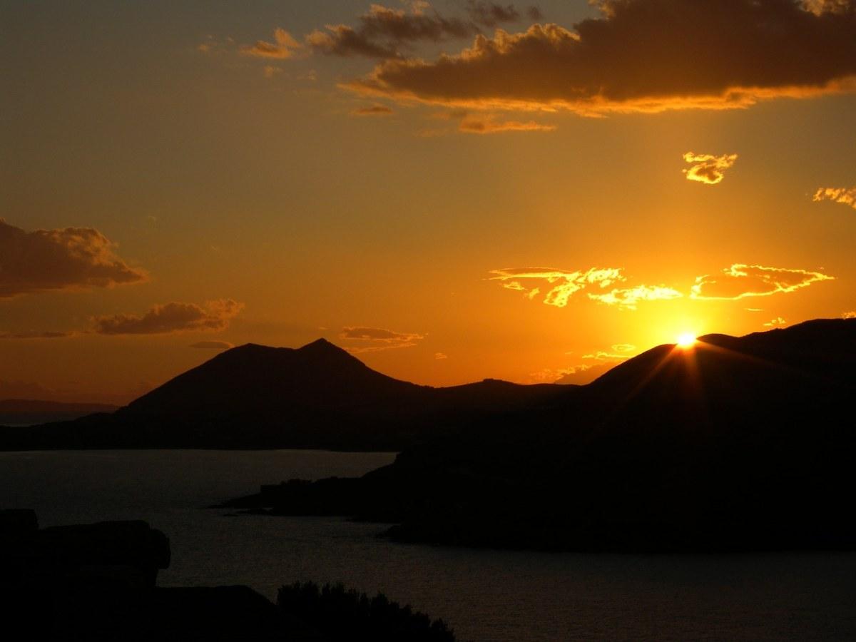 希腊、日落