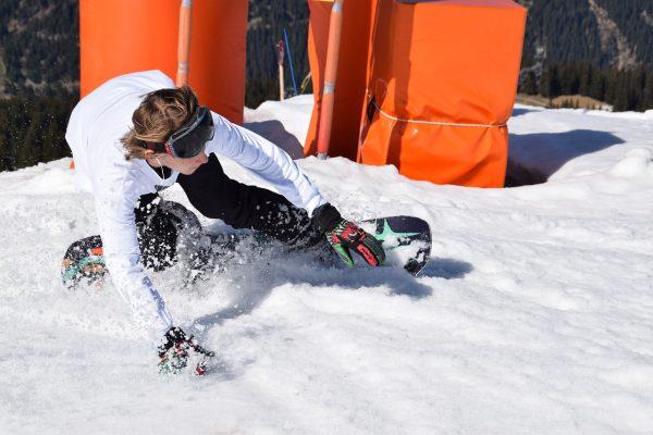 滑雪、曲线、山