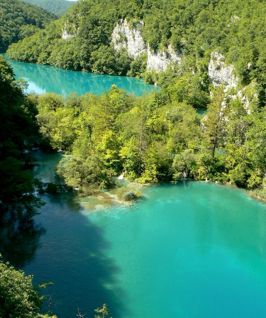 克罗地亚十六湖国家公园自然风景