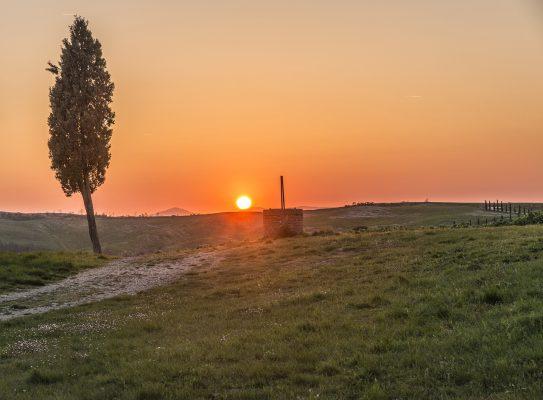 托斯卡纳、太阳、日落