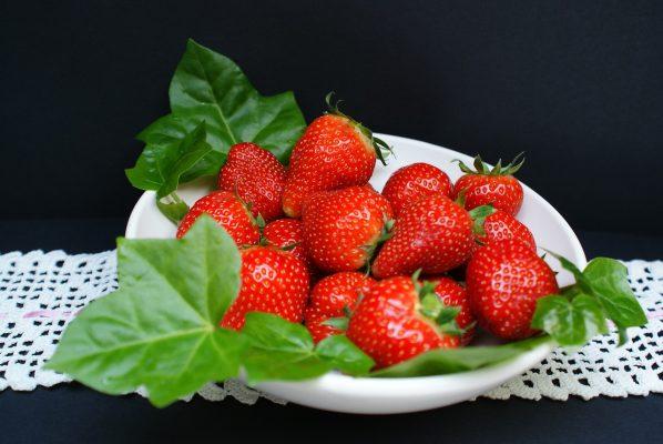 草莓、甜、果酱