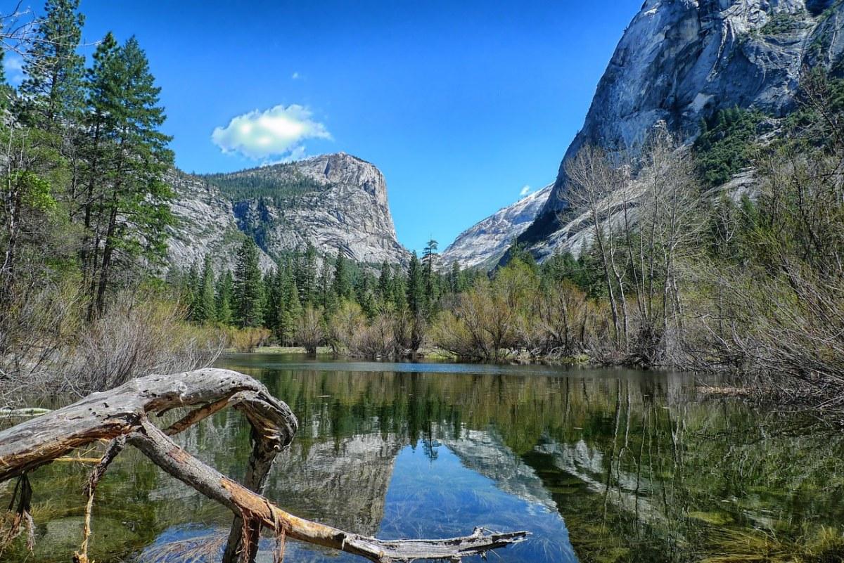 镜子湖、优胜美地国家公园、水