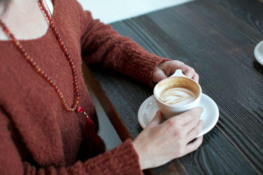 女子、日期、咖啡