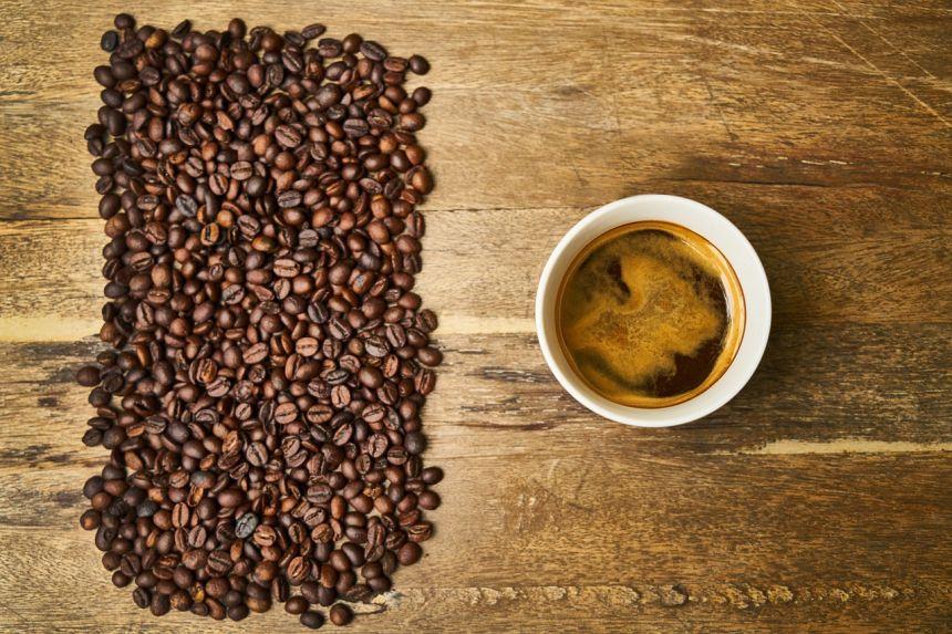 咖啡、杯、木材