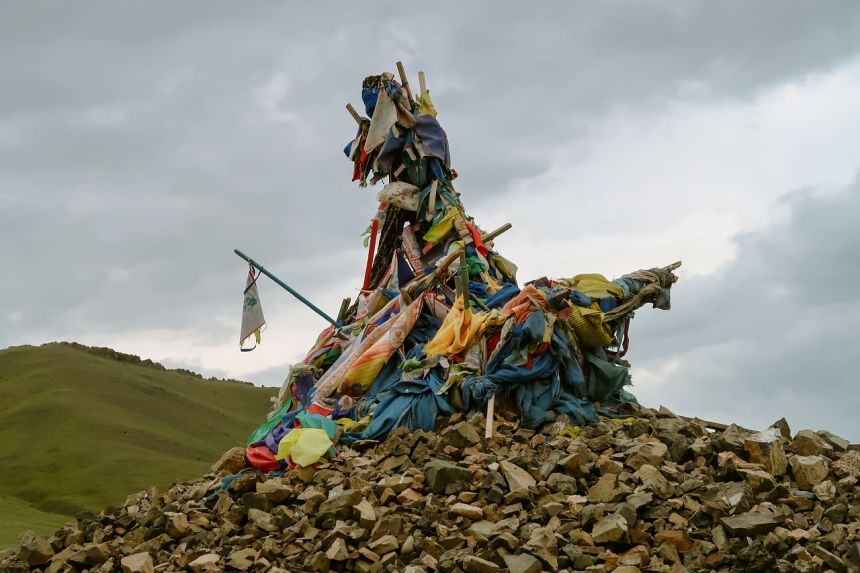 蒙古、旅行、Ovoo