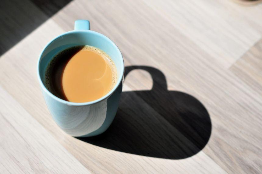 咖啡、杯、上午
