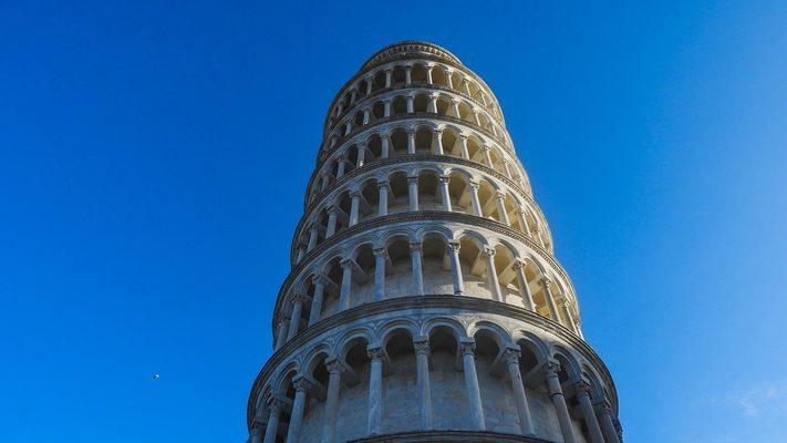 比萨斜塔、比萨、意大利