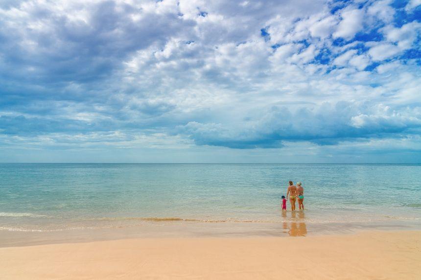 夏日大海海滩
