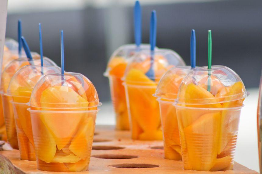 水果、芒果、橙色
