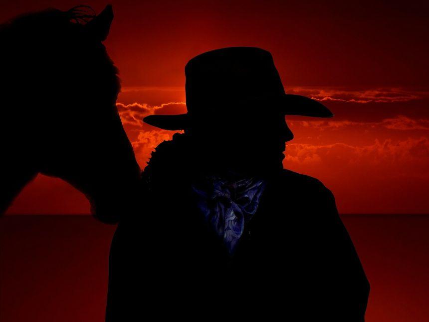 马、牛仔、西