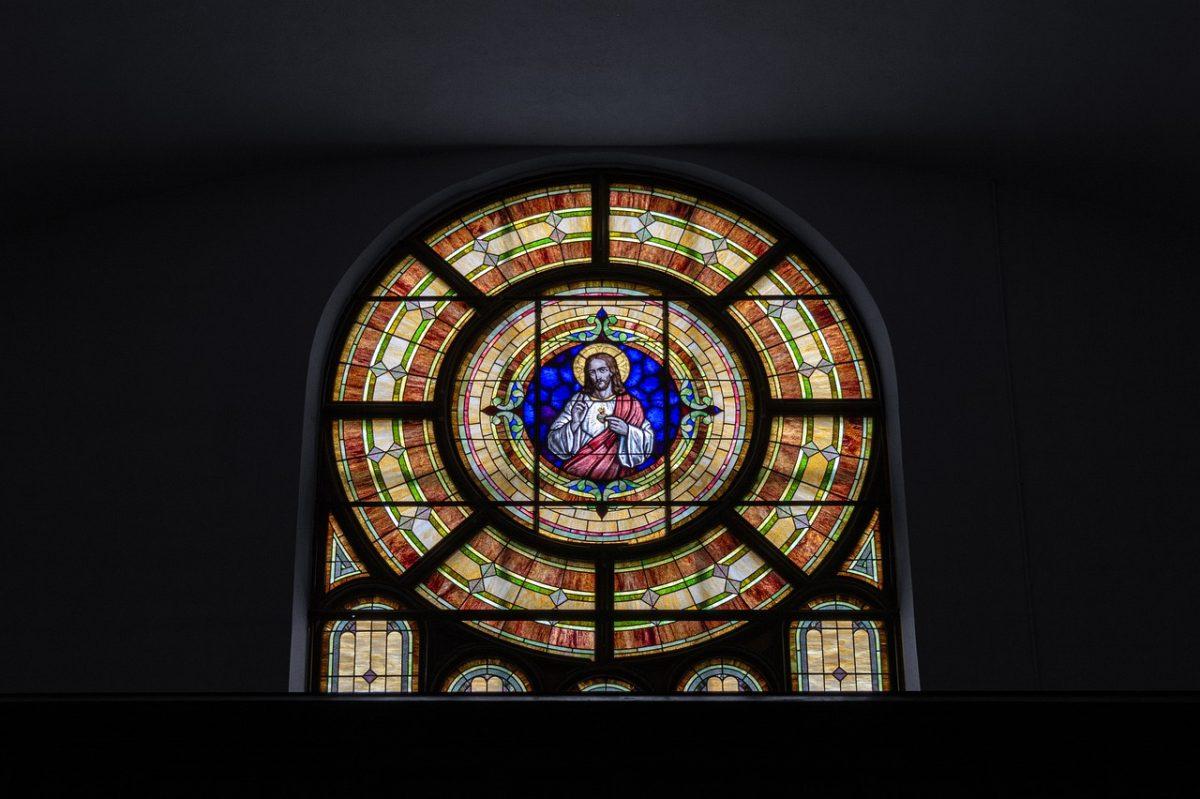 染色玻璃、耶稣、教会的天主教教堂