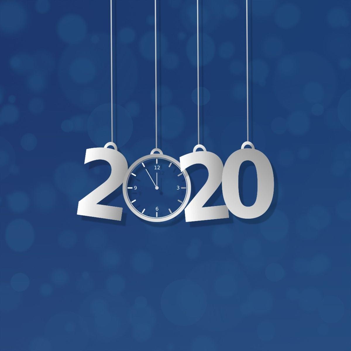 新年2020创意时间文字