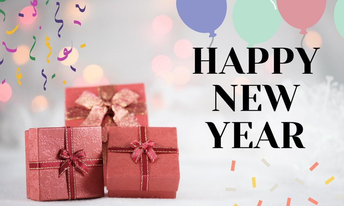 新年快乐、礼物、礼盒