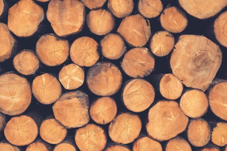 圆木木材背景图片